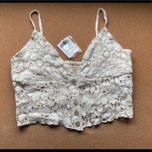 NWT urban outfitters lace cropped top